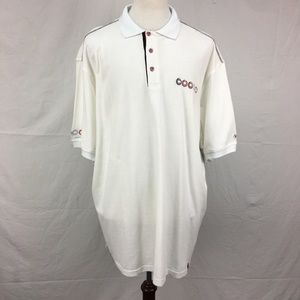 Coogi White Embroidered SS Polo Shirt